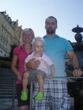 Já s Ráďou a naše zlatíčko Adámek :-)