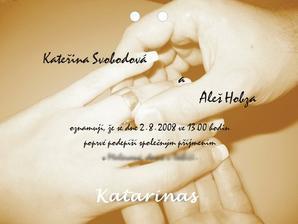 naše oznámení - naše ruce :-)))