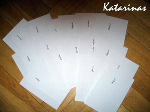 nadepsané obálky na oznámení :-))