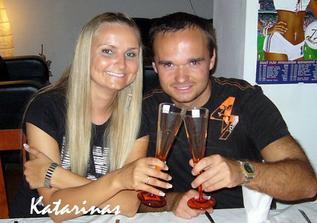 naše skleničky na svatební přípitek