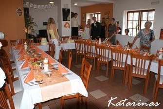 a restaurace  v den naší svatby