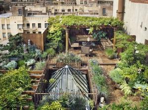 Tohle je trochu větší střešní zahrada (160m2) z NY
