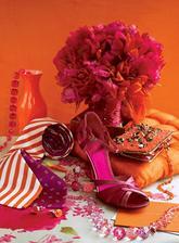 ispirace pro ty, co chteji oranzovou a nemusi vlizelin ... :)