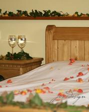 překvapení pro novomanžele - vyzdobený pokoj