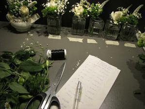seznam co z těch květinek všechno musíme udělat a označení korzáží ... MN - matka nevěsty, MŽ - matka vítekoho ... atd. :)