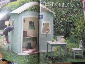 chci pro neteř zahradní domeček, tak sem budu střádat tipy z časopisů ... tohle je z marie claire idees