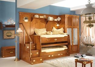 Taková postel s vysouvacím stolem 100% bude!!! :o) jen bez toho obložení a skříně.