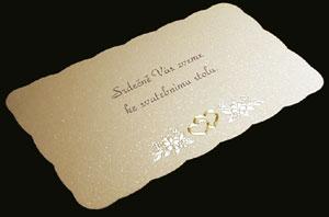Tak tahle vypadají naše pozvánky ke svatebnímu stolu. Dala jsem sem foto z netu, protože lépe vyniknou. Doporučuji jít přímo k výrobci firma Tiry, protože se svatebních salónů jsou oznámení mnohem dražší. Např.naše oznámení by stálo ze salonu 22 Kč a