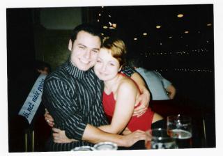 Tak to jsme my dva asi před dvěma a půl lety na plese našeho kamaráda