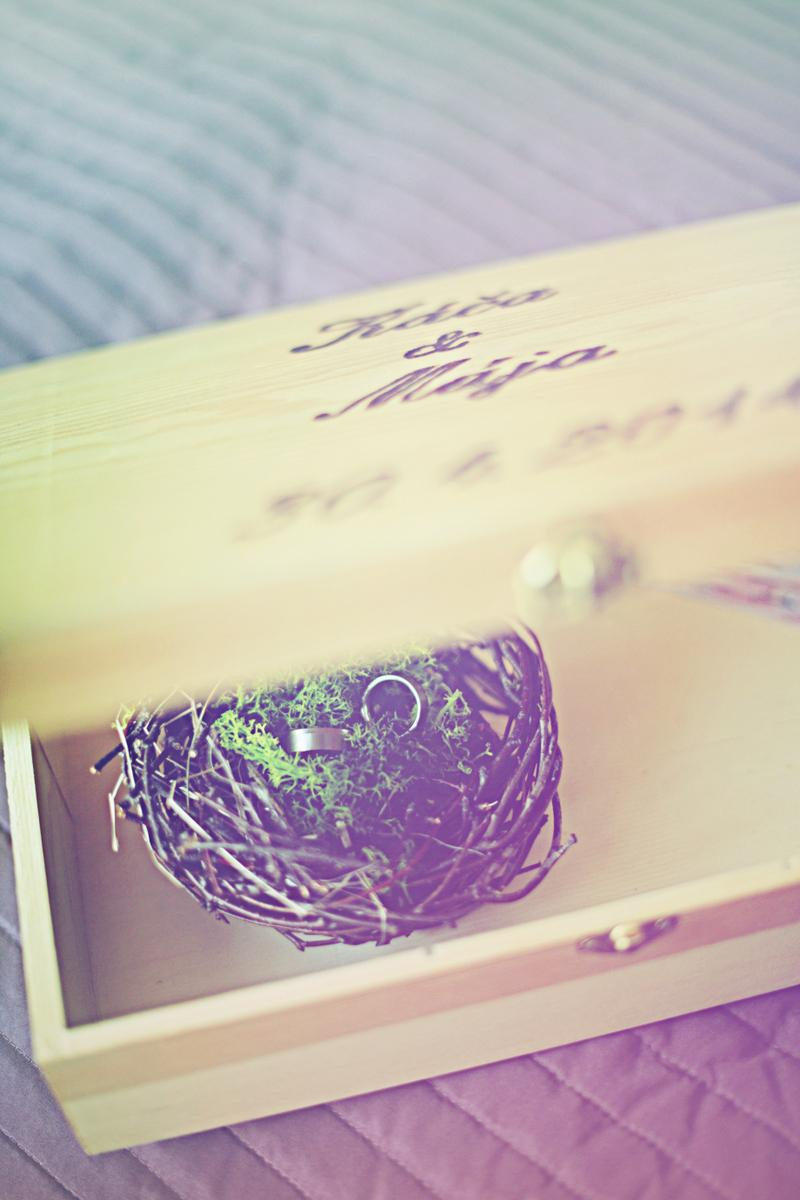 Káča{{_AND_}}Mája - Hnízdo na prstýnky vyrobila tchýně :-)