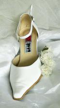 Svatební botičky. Moc pohodlné - jemná kůže.
