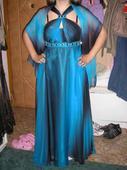 Krásne modre šaty velk. 42, 42
