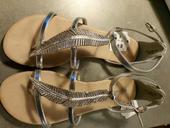 Stribrne sandalky, 40