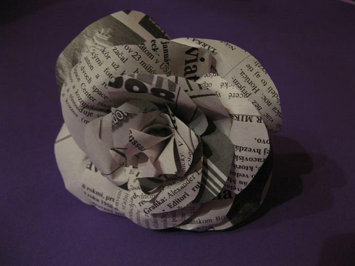 Prípravy - Papierová ruža vol. 1