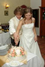 mňamky, torta bola marcipánová:)
