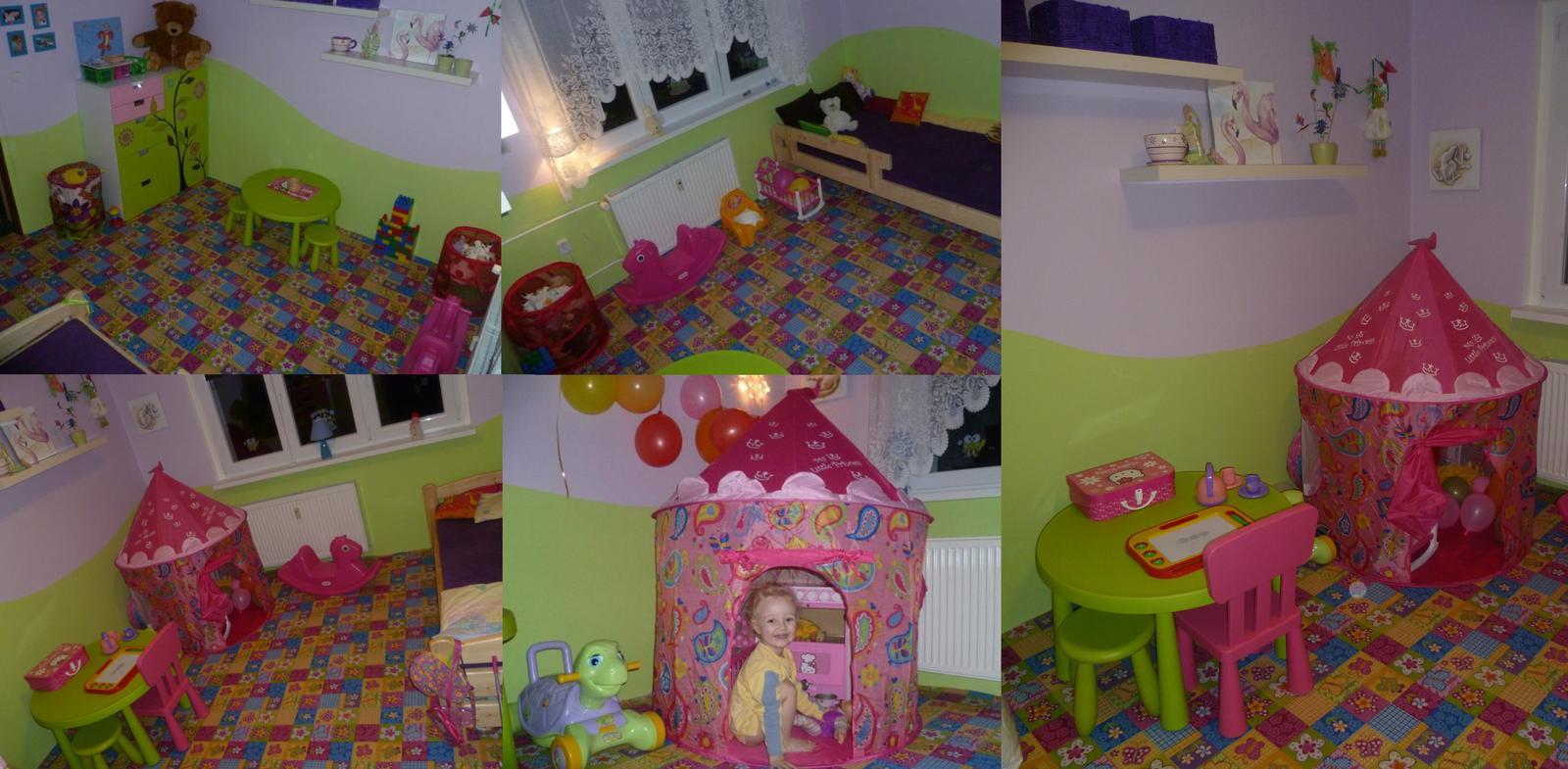 Dětský pokojík pro naší Karolínku :o) - Památka na Karolínčin pokojíček Za dva roky bude nová výzva, Karolínka má brášku a malý pokojík se vymění za velký pokoj a už nebude jen holčičí  :-)  :-)