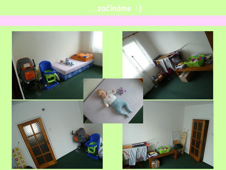 Dětský pokojík pro naší Karolínku :o) - původní vzhled místnosti... září 2011