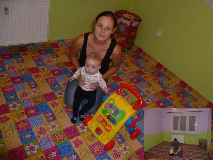 Dětský pokojík pro naší Karolínku :o) - už jen ořezat a zalištovat a můžem dále pokračovat 8)  (  koberec BUTTERFLY  )