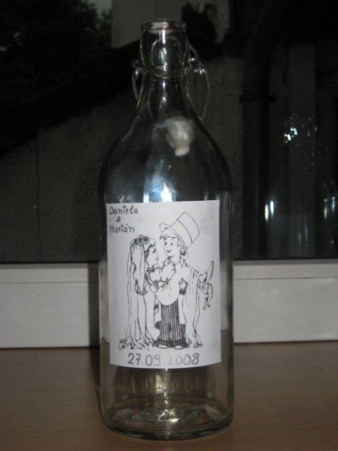 Danuska a majusko - flasky na slivovicku