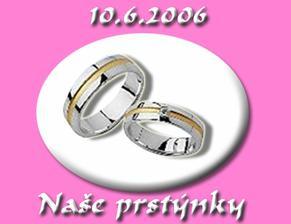 Naše svatební prstýnky ... prostě nádhera. Ty vybírala partnerka - můj andílek Vladěnka