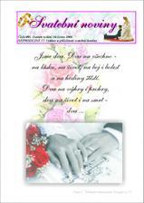 Ukázka svatebních novin ... měly nakonec 50 stran !!!