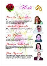 Ukázka svatebních novin - představení svatebčanů ...