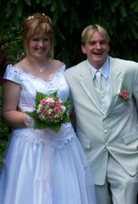 Vysmátí novomanželé :o)