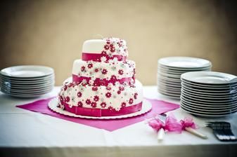 Náš krásný dortík :) Moc jsem byla spokojená
