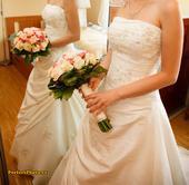 Svatební šaty 34-38 champagne, 36
