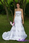 Svatební šaty Liliana č. 64 - výprodej - vel.36-38, 38