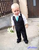 Chlapecký frak, kalhoty, vesta, motýlek do 2 let, 80