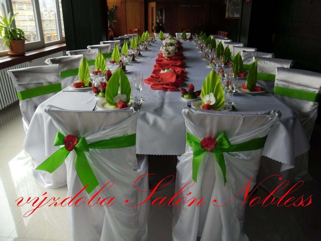 Svatební výzdoba pronájem komplet červená - Obrázek č. 2
