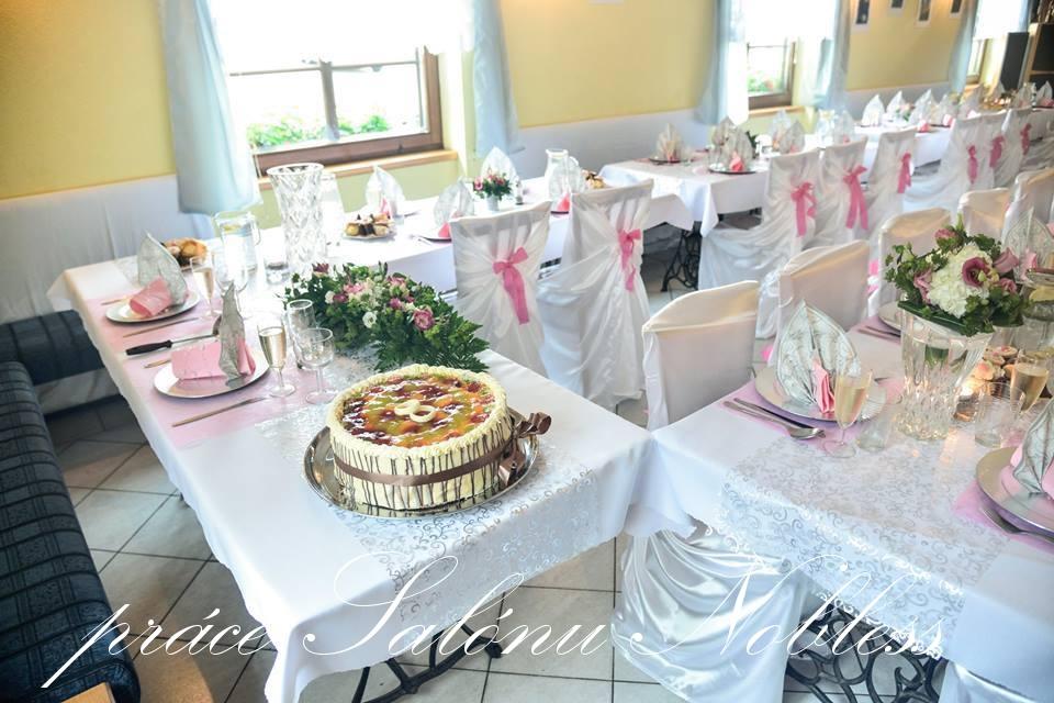 Svatební dekorace komplet pronájem růžovostříbrná  - Obrázek č. 4
