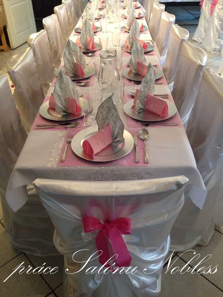 Svatební dekorace komplet pronájem růžovostříbrná  - Obrázek č. 2