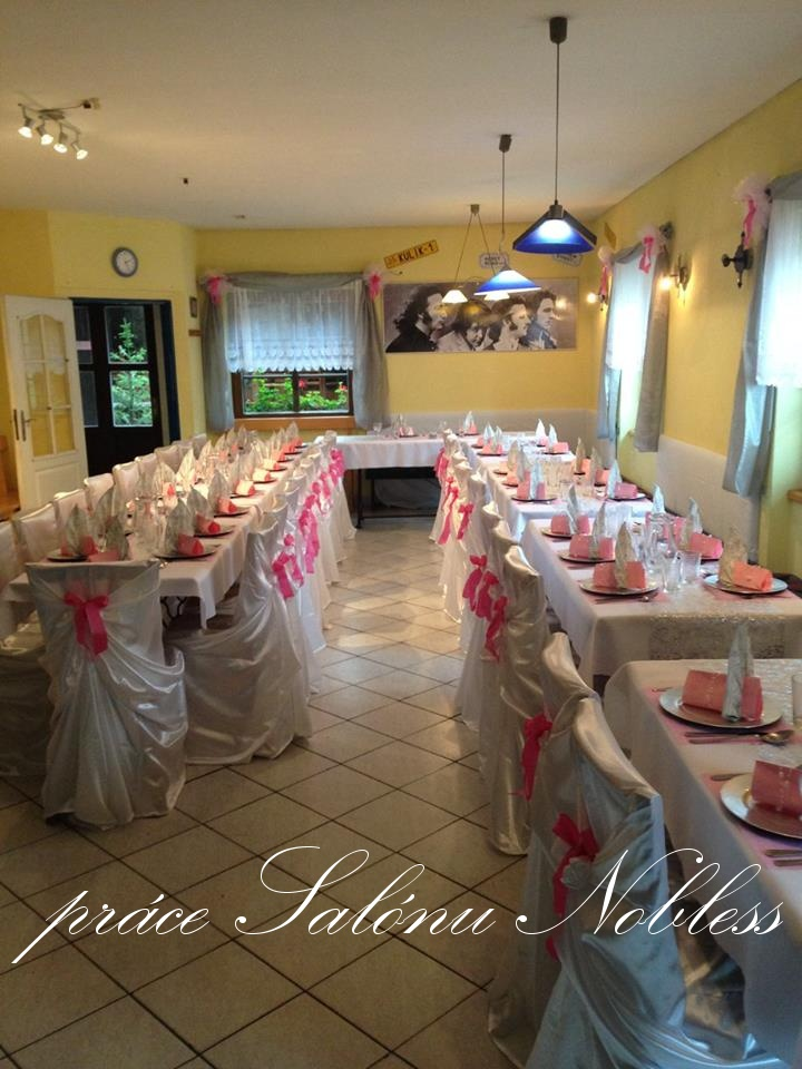 Svatební dekorace komplet pronájem růžovostříbrná  - Obrázek č. 1
