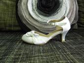 Dívčí boty saténové bílé 31, 31