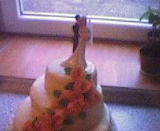 Zkouška svatebního dortu...