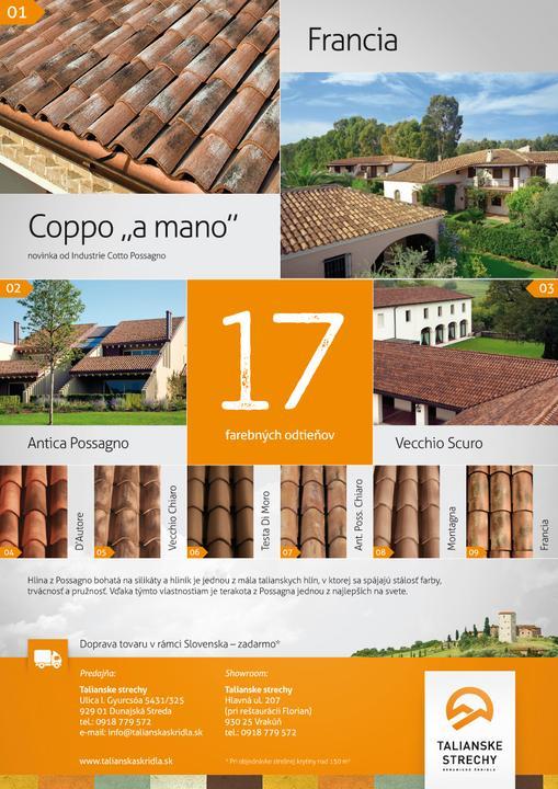 Talianske strechy - Katalóg - najkrajšie mediteranské krytiny za najvýhodnejšie ceny. Vďaka svojej kvalite sú určené na použitie vo všetkých krajinách EÚ! - Obrázok č. 3