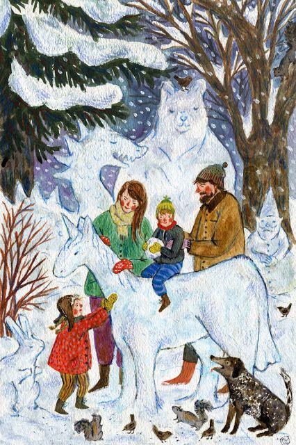 Ilustrované Vianoce - Obrázok č. 17