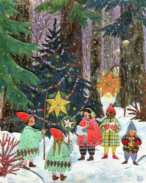 Ilustrované Vianoce - Obrázok č. 33