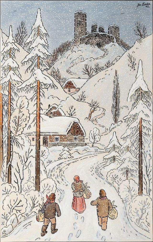 Ilustrované Vianoce - Obrázok č. 111