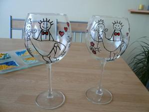namalovat na skleničky - skvělý nápad!