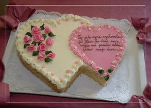 darovací dort