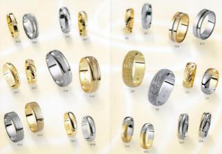 9/A: matné žluté a lesklé bílé zlato, já s kamínkem, H. bez