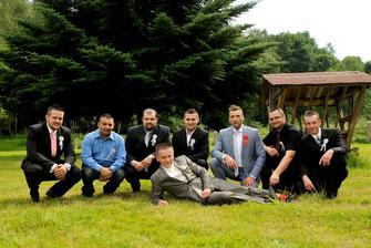 a ženich s chlapama :-)