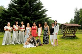 a ženich s děvčaty
