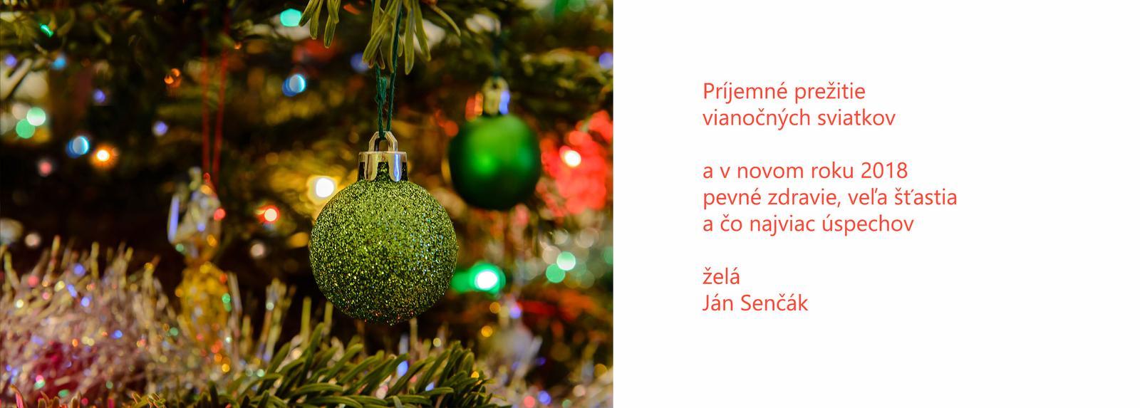 Přeji krásné Vánoce a šťastný nový rok 2018 - Obrázek č. 1