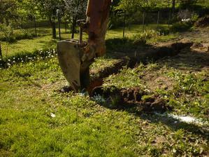 10.5.2008 krásny deň - stromy kvitli, včielky bzučali a my sme kopali