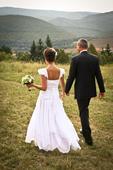 hodvabne svadobne saty, 38