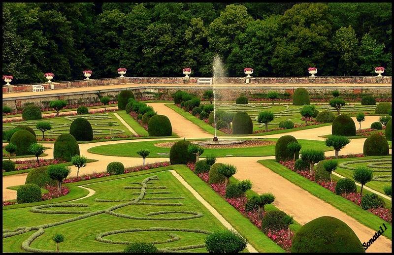 Renesančná záhrada - Chennenceau, Francúzsko